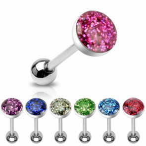 Zungenpiercing Multi Epoxy Kristall Schmuck Ball