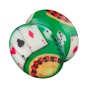 Flesh Plug Double Flared Poker Spielkarten