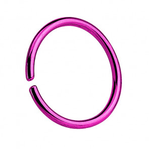 Nasenpiercing Septum Piercing Continuous Ring Lila
