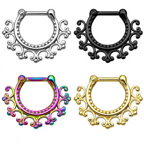 Nasenpiercing Ring Septum Clicker Schild Helix Tribal Antik