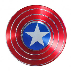 Hand Finger Turbo Spinner Fidget Anti Stress Captain Amerika Schild