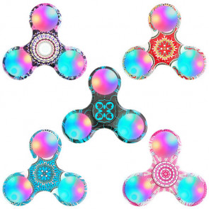 Finger Spinner Fidget Pocket Anti Stress Spielzeug Orientalische Muster mit LED